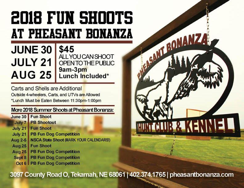 Summer Shoot 2018 at Pheasant Bonanza