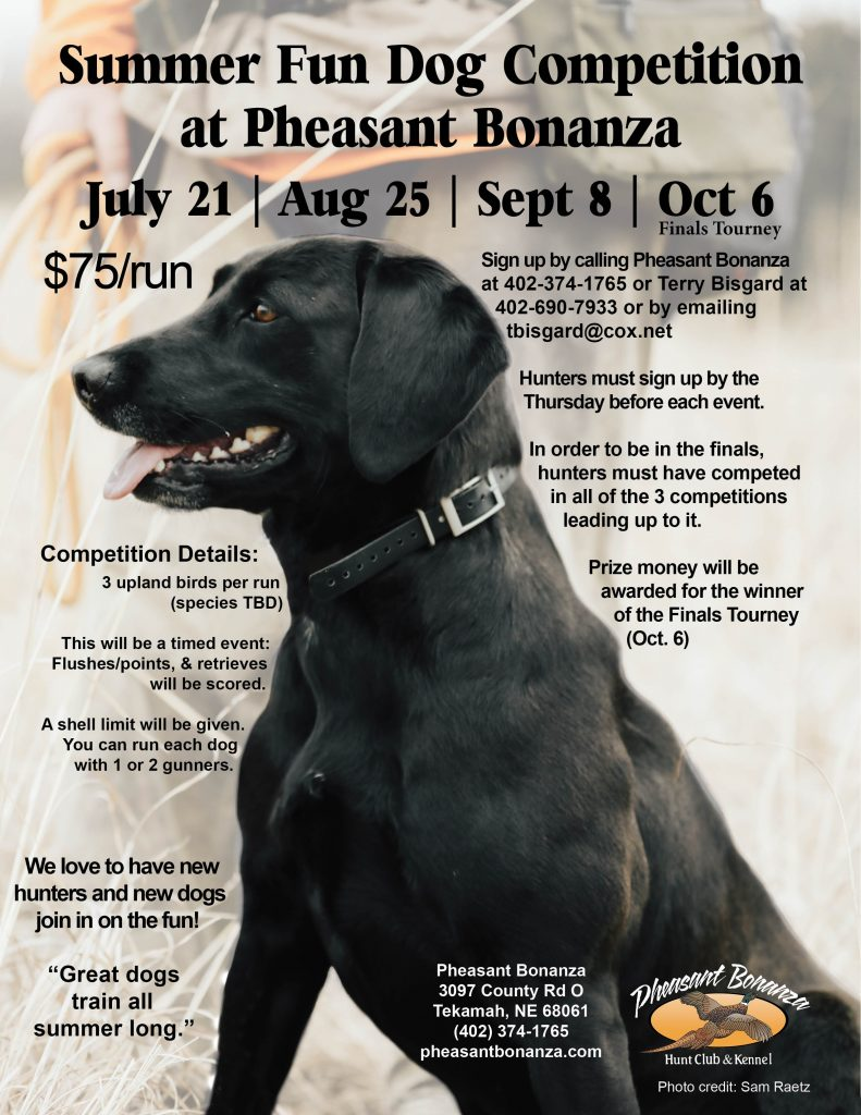 Nebraska Iowa South Dakota Dog Competition Flyer